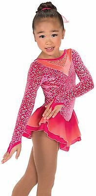 Jerry's 185 Peachy Pink figure skating dress - junior - FREE P&P-NEW LOWER PRICE