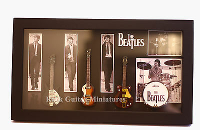 RGM8868 The Beatles Miniature Guitars in Shadowbox Frame