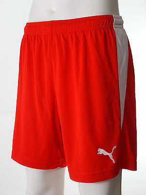 Men's Football Shorts Puma V-Kat 'Red with White Trim' Sizes S to XL