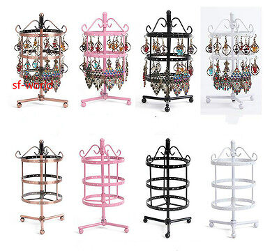 New72 Holes Earrings Jewelry Display Rack Metal Stand Holder Storage Showcase UK
