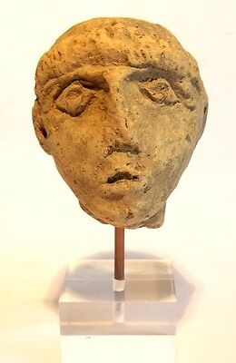 Tete Grecque Antique - 3°S. Avant Jc - Ancient Greek Terracotta Head 400 Bc