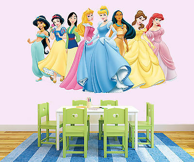 NEW XL 5 Disney Princesses STICKER ROOM BOYS GIRLS VINYL WALL ART DECAL