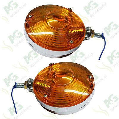 DB,Ford,MF,Leyland Round Indicator Side Lights,Lollipop Type.115mm Diameter-pair