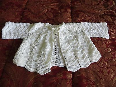 Vintage Shabby White Baby Sweater List # Cm 58