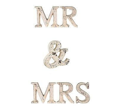 LARGE Cement Mr & Mrs Letters Wedding Shabby Chic Display Vintage Outside Use