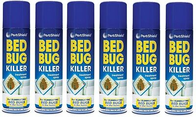 6x Pest Control Bed Bug Killer Aerosol Treatment Spray Eliminate Home Bed 200ml