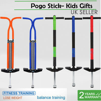 Colorful Traditional Pogo Stick Childrens Kids Adult Outdoor Jump Bounce Toy Uk