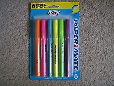 Paper Mate Intro Fluorescent highlighters pack of 6