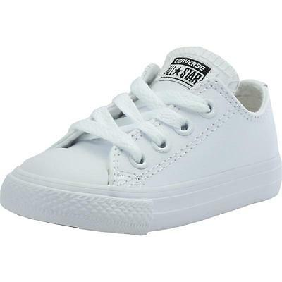Converse Chuck Taylor All Star Infant White Leather Trainers