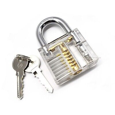 BIG transparent padlock training unlock lockpicking lock pick crochetage cadenas