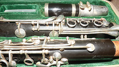 Vintage Hsinghai Clarinet In Original Leather Case