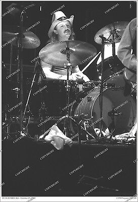 Butch Trucks Allman Brothers Band RARE 19x13 LIVE PHOTO 1980/Derek From Orig Neg
