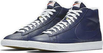 627b3b959277 Nike Blazer Mid Prm Premium Leather 429988 402 Binary Blue white-Black-Navy