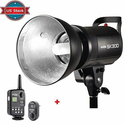 US Godox SK 300W Photography Studio Flash Strobe Light + FT-16 Wireless Trigger