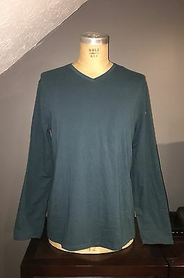 New With Tags Marc Anthony Men's Dark Teal/Green Long Sleeved Tee Shirt-Sz Xxl