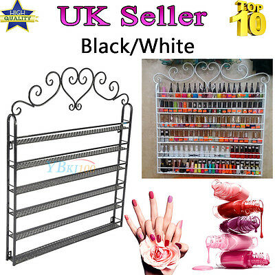 6 Tier Wrought Nail Polish Rack Wall Display Organizer Comestic Shelving Shelf