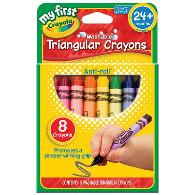 Crayola My First Washable Triangular Crayons, Assorted Colors 8 ea