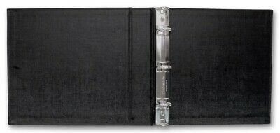 3 Ring 3 on- a-Page Business Compact Check Book Binder Vinyl BLUE