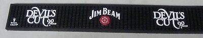 Jim Beam Devil's Cut Rubber Bar Runner Counter Spill Rail Mat Sign 23.5""