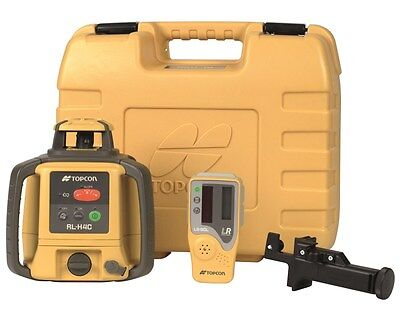 Topcon RL-H4C Self Leveling Rotary Laser Level LS80L Receiver Alkaline battery