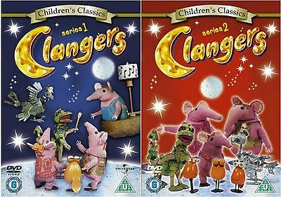 Clangers Series 1 and 2 Complete Collection DVD UK Release Brand New Sealed R2