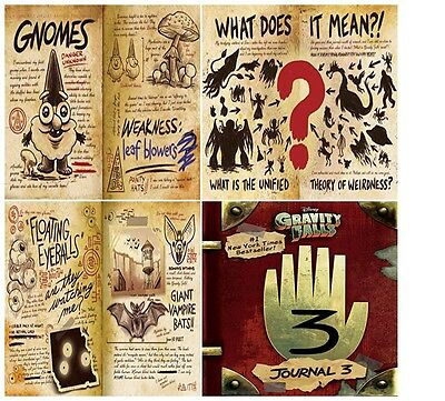 Gravity Falls: Journal 3 Alex Hirsch - Hardcover New Free Shipping Bday Gift