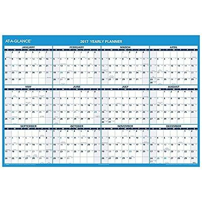At-A-Glance AT-A-GLANCE Wall Calendar 2017, Erasable, 12 Months, Reversible,