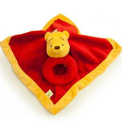 Disney Baby: Winnie the Pooh Security Blanket With Ring Rattle