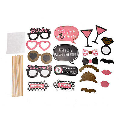 Photo Booth Props Hen Mustache on Stick Romantic Wedding Xmas Party Tools 20x ft
