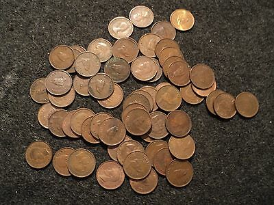 great britain uk farthing coins 60 in lot mixed dates 1 cent