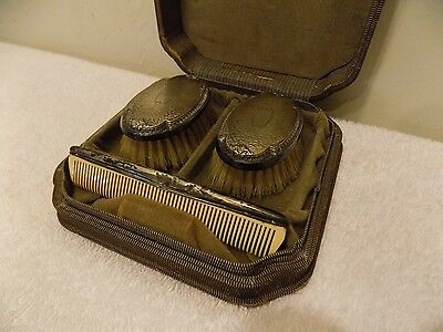 Antique Webster Sterling Silver Baby Brushes & Comb Vanity Set, No Monograms!!!