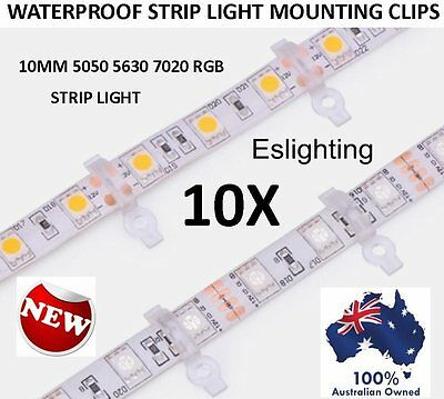 10X 10Mm Waterproof Led Strip Light Mounting Clips Clamps 5050 5630 Rgb 7020