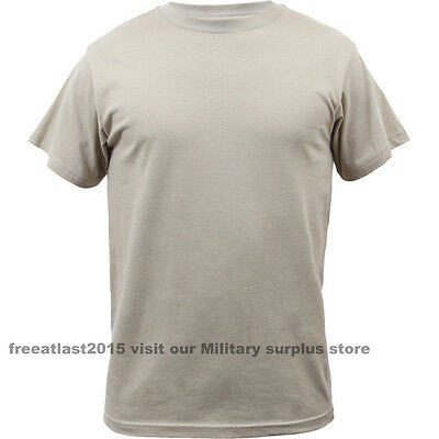 ACU MULTICAM OCP Sand Tan Desert Military Issue T-Shirt AR 670-1 100% Polyester