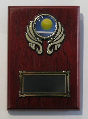 Tennis  Trophy / Wooden  Plaque 125x90mm  Engraved FREE