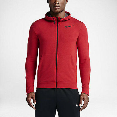 Nike Dry Men's Training Hoodie Jacket  $75 742210-657 Size L Xl Uni Red