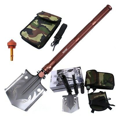 Newest Camping Shovel Durable Folding Matal Entrenching Spade Survival Multi-use