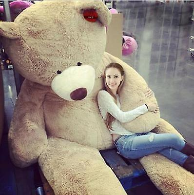 """200Cm Super Huge Teddy Bear (Only Cover) Plush Toy Shell (With Zipper) 79"""""""""""""""