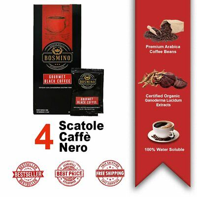 4 Scatole Organo Gold Black Coffee Caffè Nero Ganoderma Lucidum