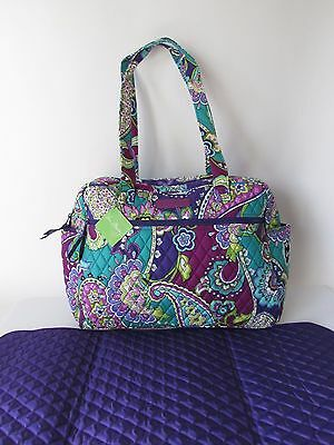 Vera Bradley Shoulder Large Baby Bag with Changing Pad in HEATHER
