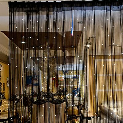 Line Divider Room Crystal Panel Tassel Decor Beads Curtain String Door Window