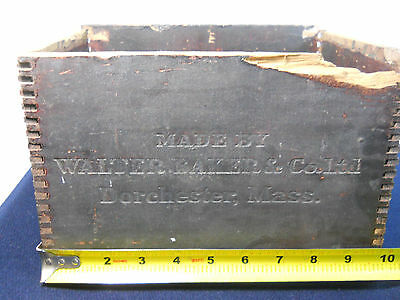 Antique Walter Baker Chocolate Wood Box  Dorchester Mass Paris Exposition 1900