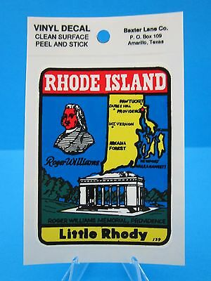 "Vintage... ""rhode Island State""  - Sticker / Decal  (New Old Stock)..... ""l@@k"""