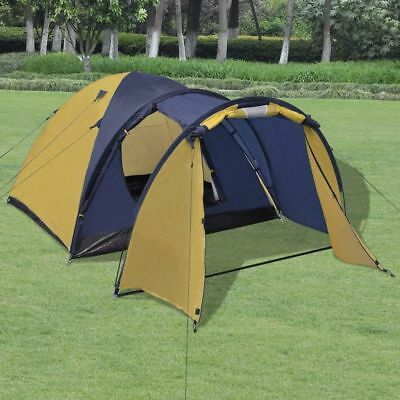 4-person Outdoor Festival Camping Hiking Tent Waterproof with Storage Bag Yellow