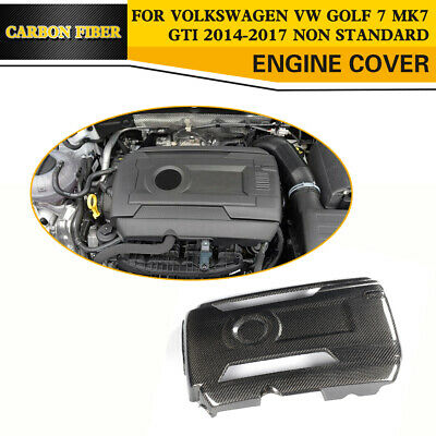 Carbon Fiber Engine Compartment Cover Bay Panel for VW GOLF MK7 GTI 2014-2017