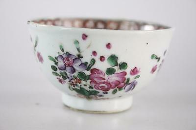 CHINESE ANTIQUE 18thc. QING FAMILLE ROSE EXPORT WARE TEA CUP