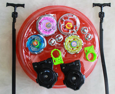 Light Up Metal Master Fusion Rapidity Fight Beyblade Battle W/ Stadium Launcher