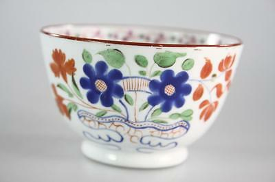 ENGLISH ANTIQUE 18th Century NEW HALL FLORAL TEA CUP