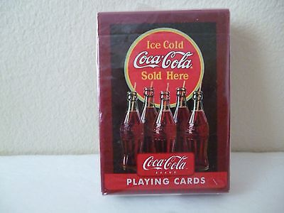 Coca-Cola Playing Cards    5 Open Bottles W/straw     By  Bicycle   Sealed Deck