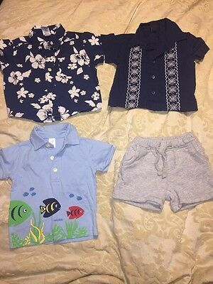 Baby Gap Lot Of 4 Boys Items 6-12 Months