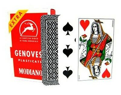 Modiano Genovesi Italian Deck Of Playing Cards Briscola Scopa Tresette Italy